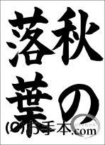 福岡JA子ども夏休み作品コンクール小学5年『秋の落葉』