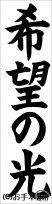 JA共済書道コンクール条幅の部小学5年『希望の光』