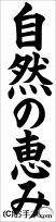 JA共済書道コンクール条幅の部小学6年『自然の恵み』