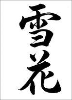 半紙毛筆『雪花(行書)』
