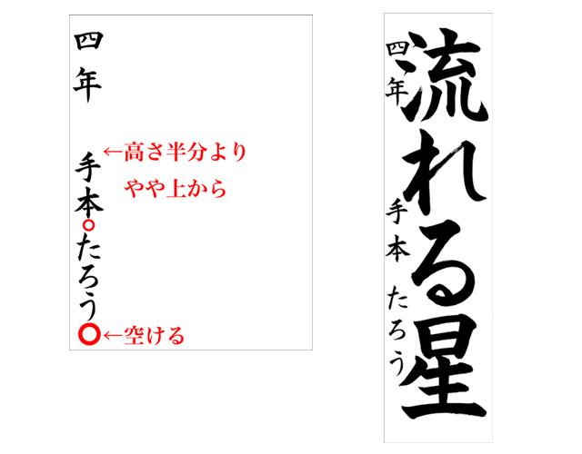 名前の入れ方① | お手本.com