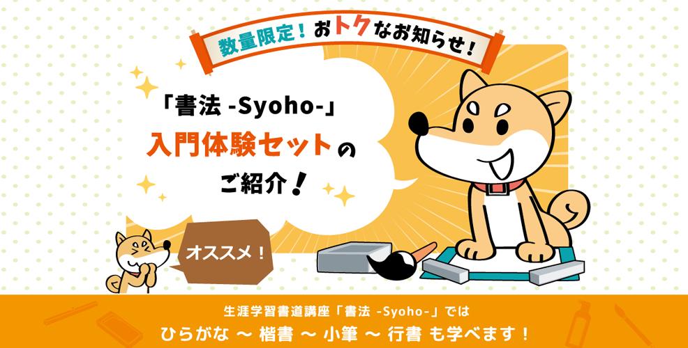 生涯学習書道講座「書法-Syoho-」入門体験セット