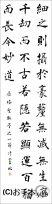 漢字臨書条幅3行楷書『雁塔聖教序5』