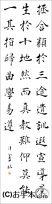 漢字臨書条幅3行楷書『雁塔聖教序10』