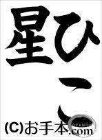 千葉県席書大会 小3『ひこ星』