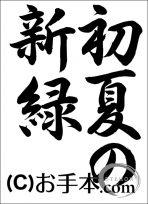 千葉県席書大会 中3『初夏の新緑(行書)』
